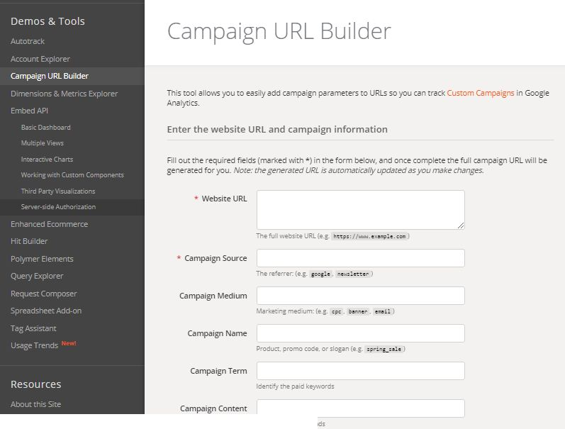 what is campgain url builder, how campaign URL builder works