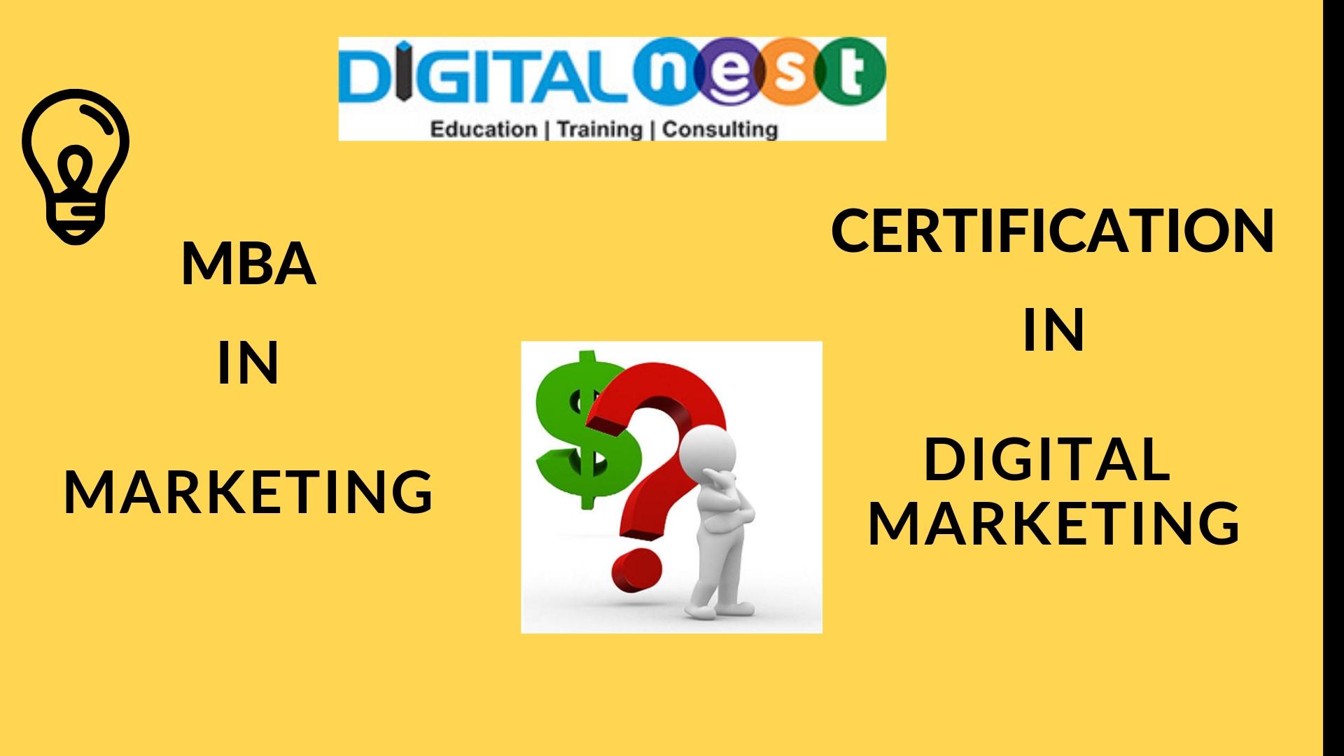 Digital Marketing Vs Mba In Marketing Digital Nest Hyderbad